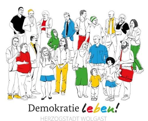 Logo Partnerschaft für Demokratie Wolgast