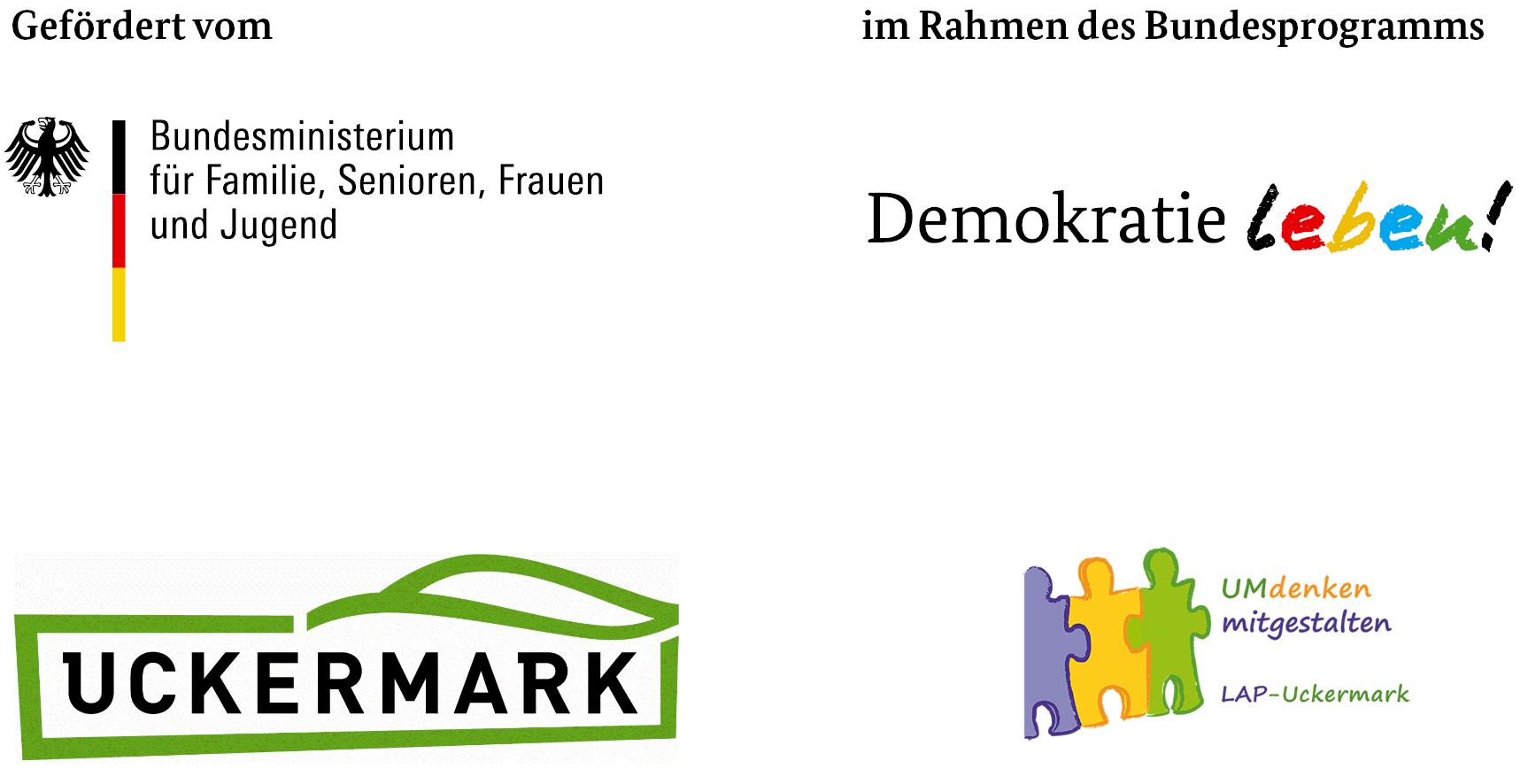 Logos Uckermark Demokratie Leben